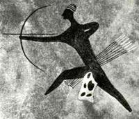 Наскальный рисунок племени Тассилли