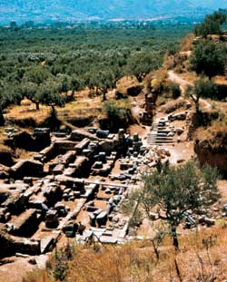 Равнина Лаконии. Вид на руины Спарты, разрушенной готами в 396 году н. э