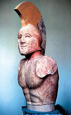 Мраморный бюст царя Леонида. Ок. 190 года до н. э.